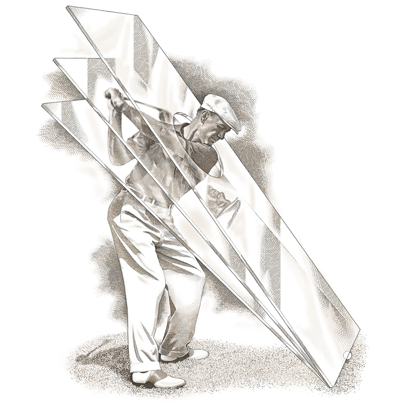 keith-witmer-pen-and-ink-sports-ben-hogan-plane-of-glass